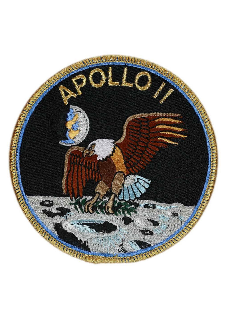 apollo 11 embroidered patch astronomy now spaceflight now store. Black Bedroom Furniture Sets. Home Design Ideas